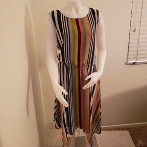 JBS chiffon striped dress